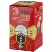 Лампа светодиодная ЭРА LED smd  P45-6w-827-E27 ECO