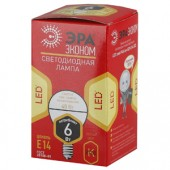 Лампа светодиодная ЭРА LED smd  P45-6w-827-E14 ECO