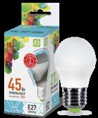 LED P-45 5 Вт (220~240В, E27, 400Лм, 4000К)