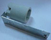 Патрон керамический Е14 с кронштейном