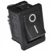21529/Выключатель 1062 15*10мм /13*8,5/ 250В 3А черный вкл.-вкл.