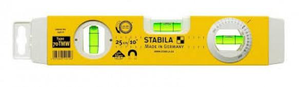 14010 STABILA Уровень тип 70TMW, .26см /1верт,1гориз,магн.точн.0,5мм/м/