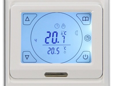 Терморегулятор E 91.716 электронный программируемый  с датчиком пола и воздуха, 16А, цвет белый