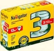 Лампа Navigator 94 407 NCL6-SH-13-840-E27/3шт/