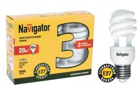 Лампа Navigator 94 411 NCL6-SH-20-840-E27/3шт/