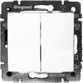 Выключатель 2 кл. VALENA белый Legrand (774405)