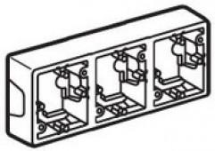 Коробка для накладного монтажа 3 поста Valena белая (776183)
