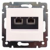 Розетка телефонная RJ11 4 контакта 2 вывод Valena белая (774439)