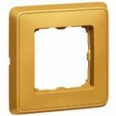 Рамка Cariva 1 пост матовое золото