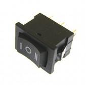 21532/Выключатель/ 3082 21*15мм /19*12,5/ 250В 6А вкл-выкл-вкл черный