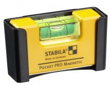 17768  STABILA  Уровень тип Pocket Pro Magnetic. /1гориз,точн.01мм/м/