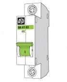 Автомат ASD ВА 47-63/1п 4А 4,5 кА