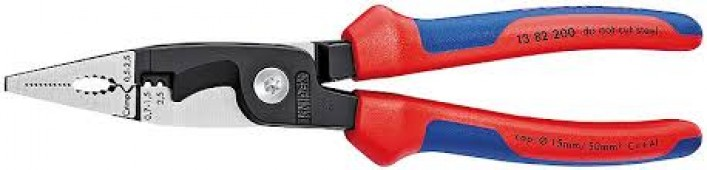 Инструмент для снятия изоляции KNIPEX KN-1382200/Плоскогубцы с кабелерезом
