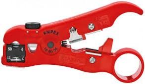 Стриппер для удаления изоляции с коаксиальных кабелей KNIPEX 16 60 06 SB KN-166006SB