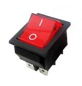 21538/Выключатель 604  31*25мм /28*21,5/ 250В 16А красный вкл-выкл