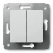 Выключатель Cariva 2х клав. бел 773658