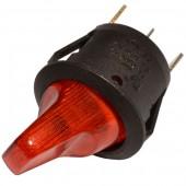 21549/Тумблер 18 23мм/20/ 250В 3А красный с подсветкой