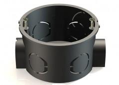 Коробка установ.скрытой установки для кирпичных стен 65*40 черн./стык