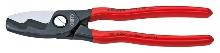 Ножницы для резки кабелей с двойными режущими кромками KNIPEX 95 11 200 KN-9511200