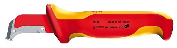 Нож с пяткой для снятия изоляции KNIPEX 98 55 KN-9855