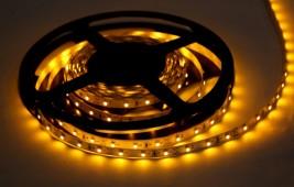 LED лента открытая,IP23,SMD 3528,60LED,12V/желтый/141-332/